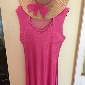 Komarov Dresses - PINK SLEEVELESS DRESS/KOMAROV DRESS